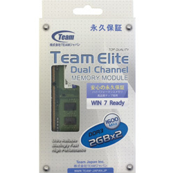 Team TED34096M1600C11DC (DDR3 PC3-12800 2GB×2枚)