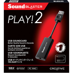 CREATIVE Sound Blaster Play! 2 SB-PLAY2 (USB接続 外付サウンドカード)