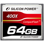 Silicon Power コンパックトフラッシュ SP064GBCFC400V10 (CFカード 400倍速 64GB)